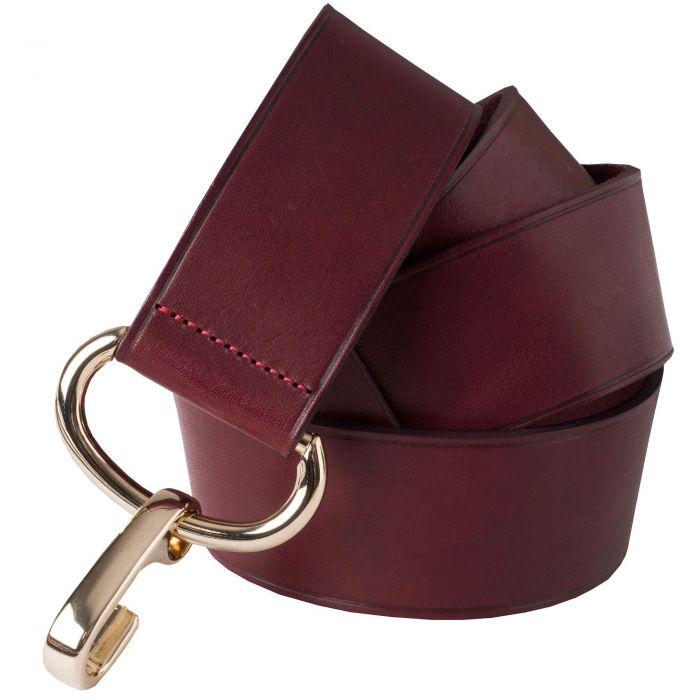 Wine Leather Adjustable Belt