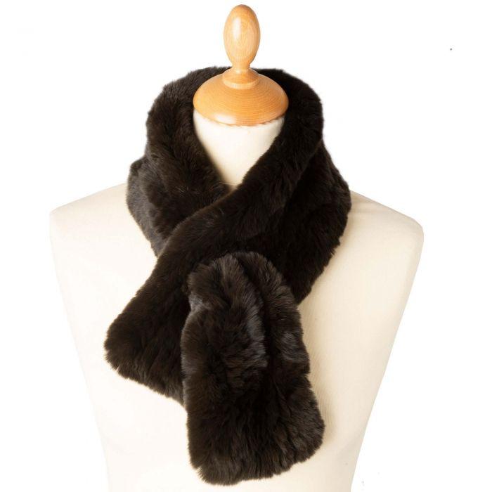 Olive Green Fox Fur Collar