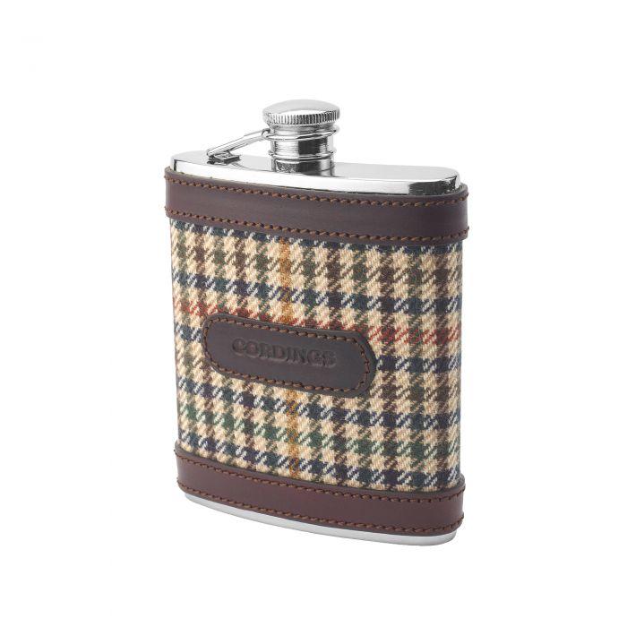 Wincanton Tweed Mini Hip Flask
