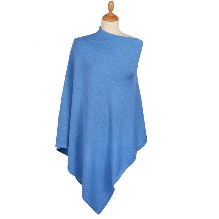 Blue Cotton Poncho