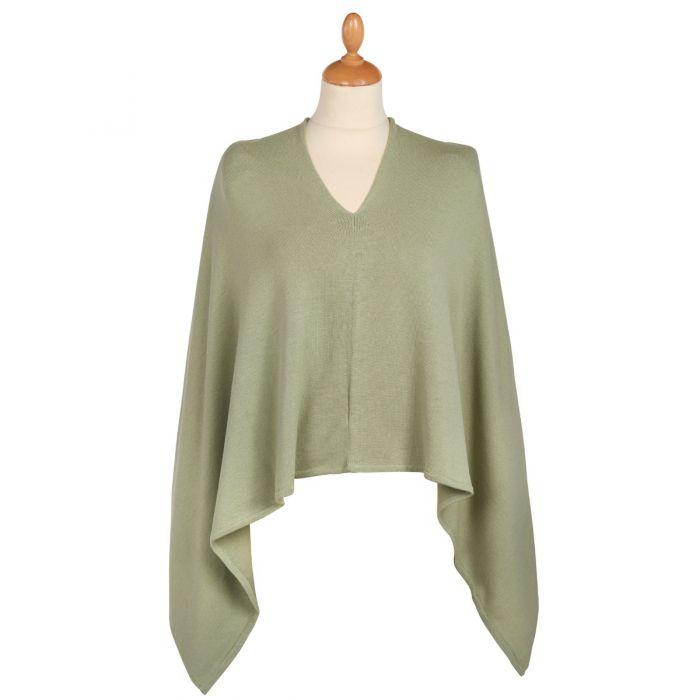 Green Cotton Poncho