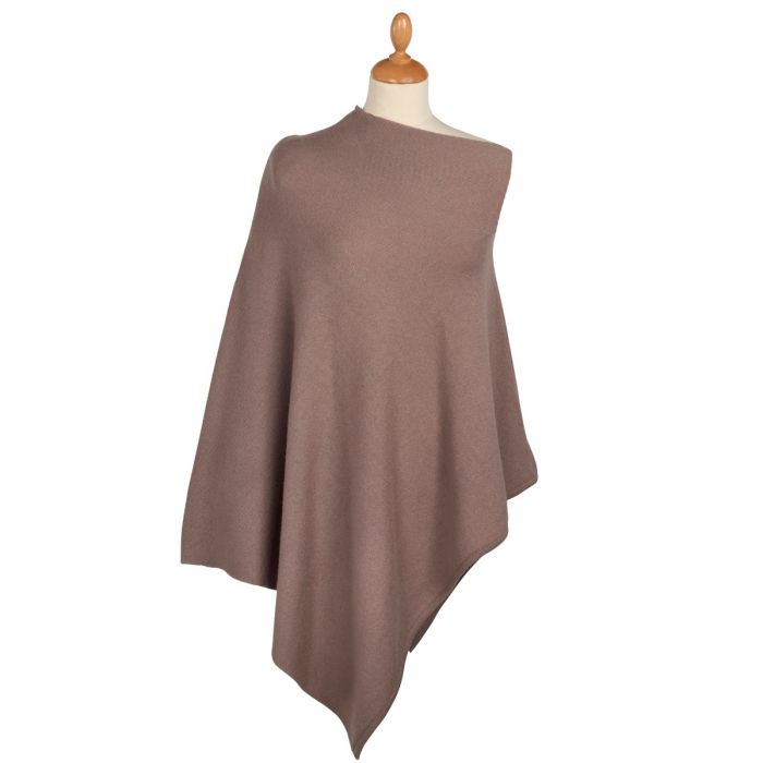 Brown Nepalese Cashmere Poncho