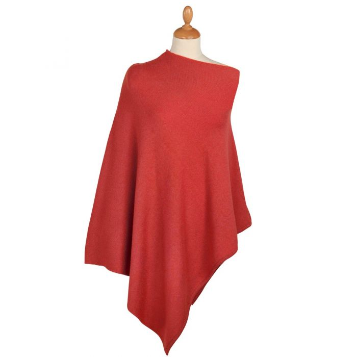 Pink Nepalese Cashmere Poncho