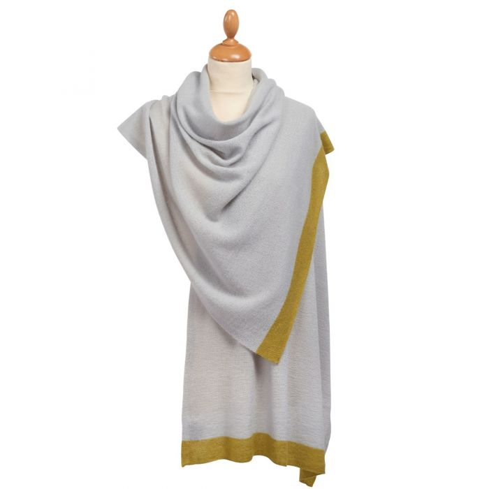 Green Tipped Nepalese Cashmere Scarf