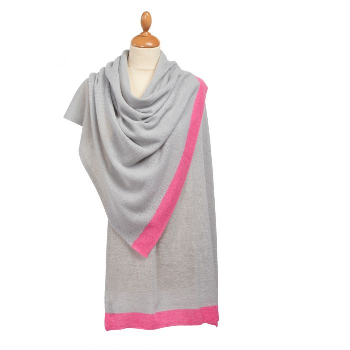 Pink Tipped Nepalese Cashmere Scarf