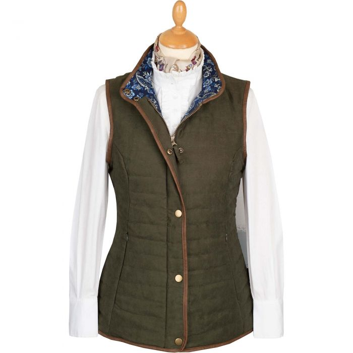 Olive Green Quilted Classic Gilet