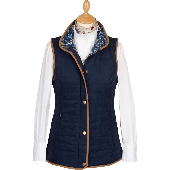 Navy Quilted Classic Gilet