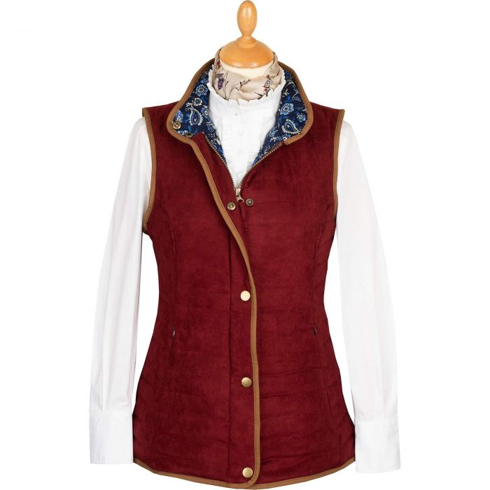 Wine Quilted Classic Gilet