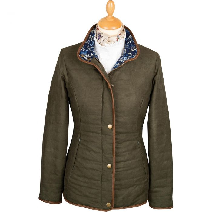 Green Olive Quilted Classic Jacket