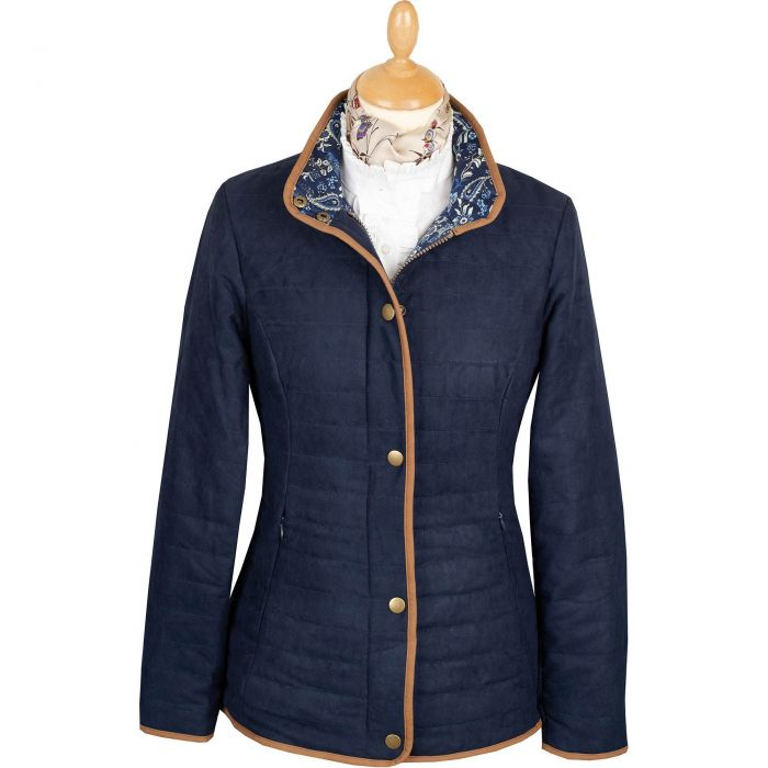 Navy Quilted Classic Jacket