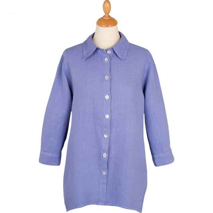 Lilac Casual Linen Shirt