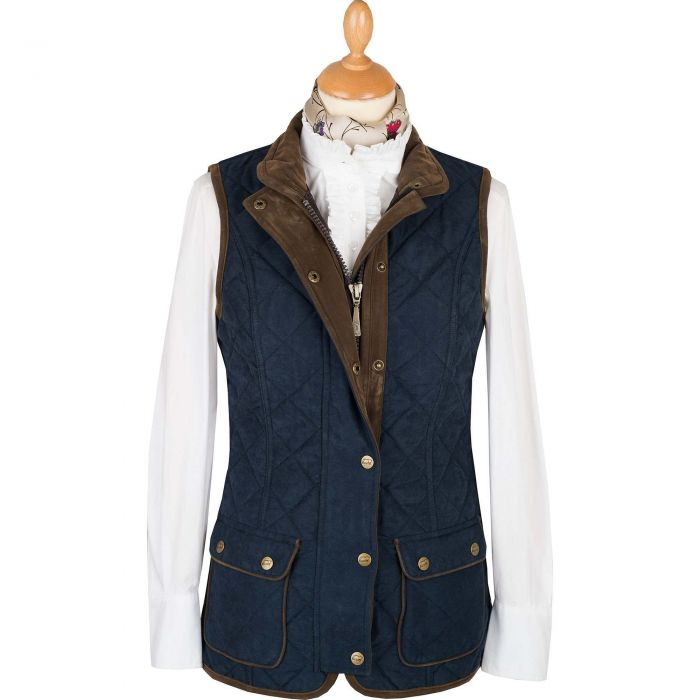 Navy Microfibre Baleno Quilted Paddock Gilet