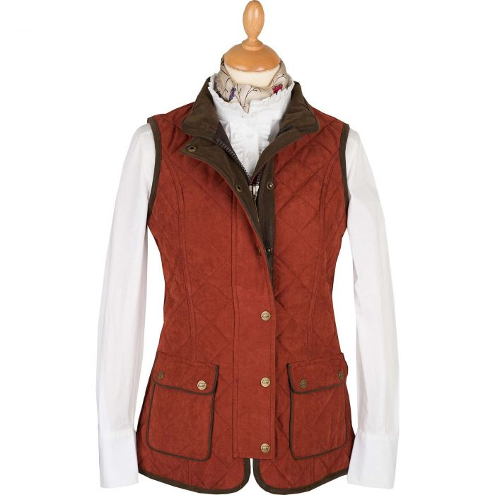 Rust Microfibre Baleno Quilted Paddock Gilet