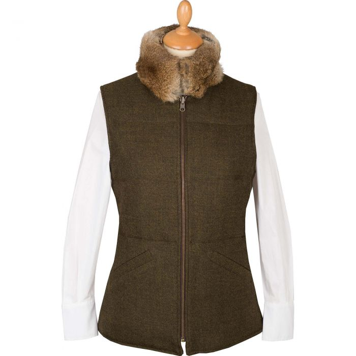 T. Ba Reversible Gilet with Fur Collar