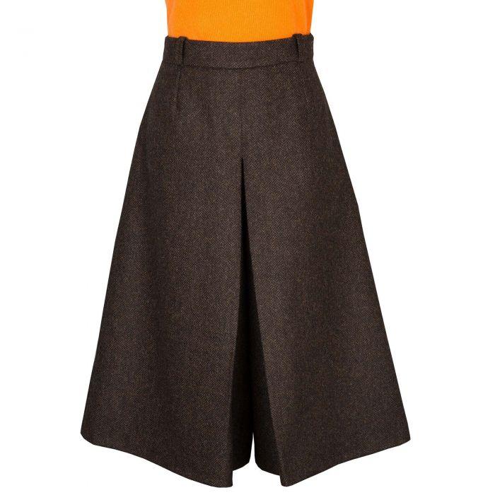 Brown St James Tweed Culottes
