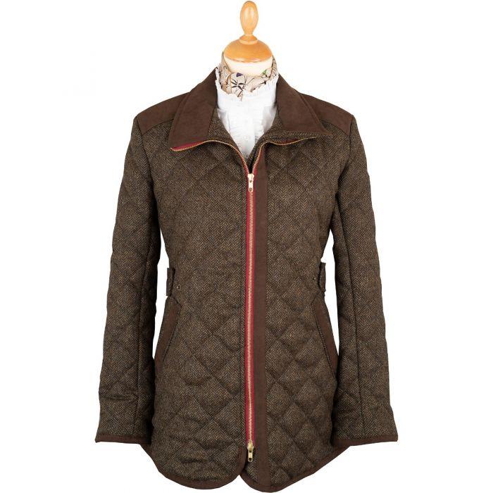 Herringbone Quilted Tweed Fieldcoat