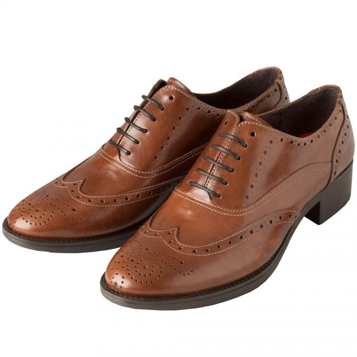Brown Chestnut Leather  Brogue