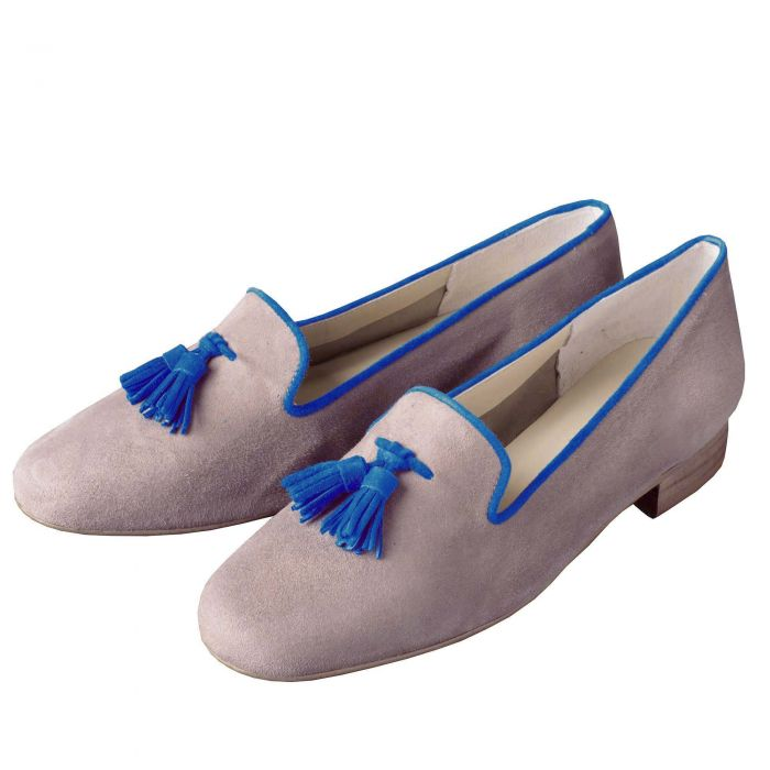 Taupe Suede Contrast Slipper