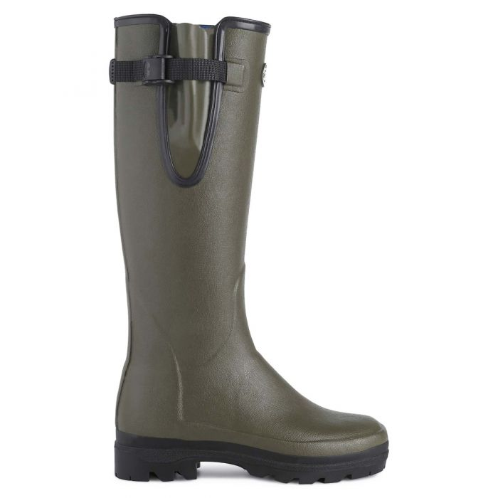 Dark Green Le Chameau Lady Vierzonord Lined Boots