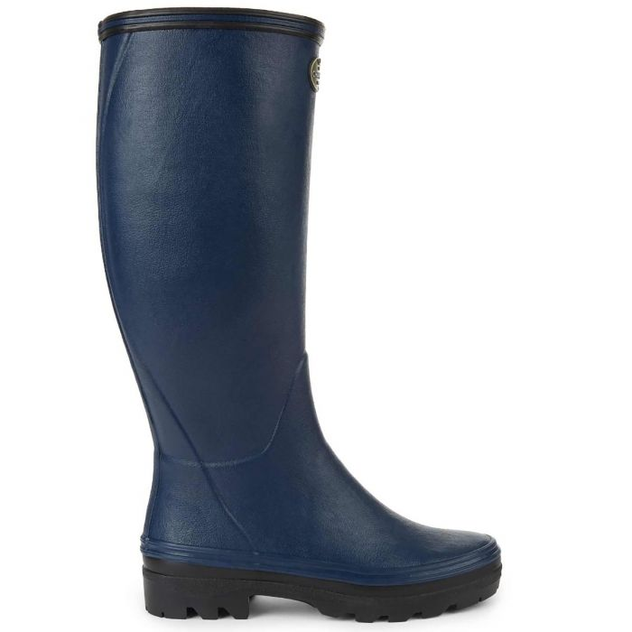 Navy Le Chameau Giverny Jersey Lined Boots
