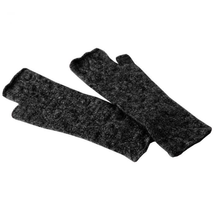 Charcoal Grey Possum Merino Wristlets