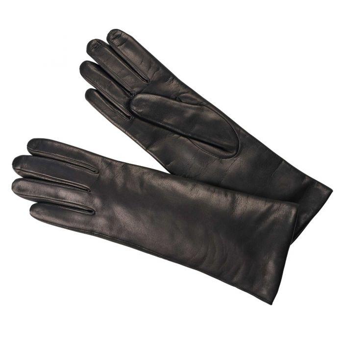 Black Nappa Leather Long Cuff Glove