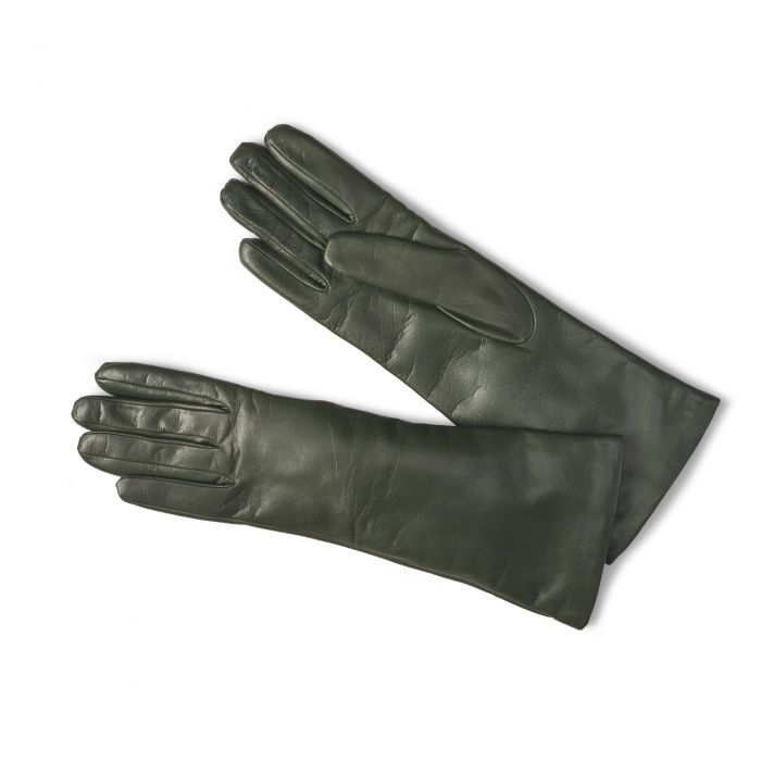 Green Leather Nappa Gloves