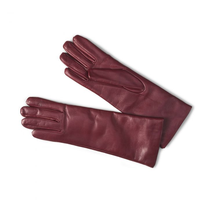Wine Leather Nappa Gloves