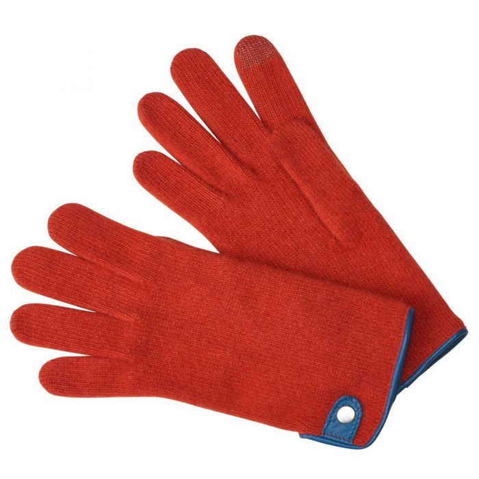 Orange Cashmere & Merino Gloves