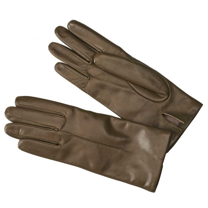 Loden Green Cashmere Lined Nappa Leather Gloves