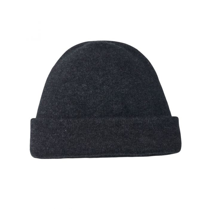Charcoal Grey  Possum Beanie Hat