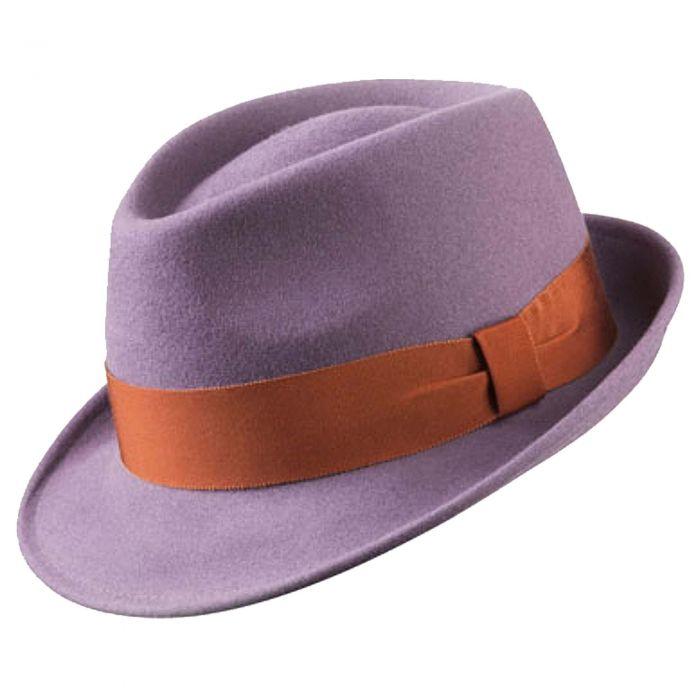 Lilac Felt Trilby Hat