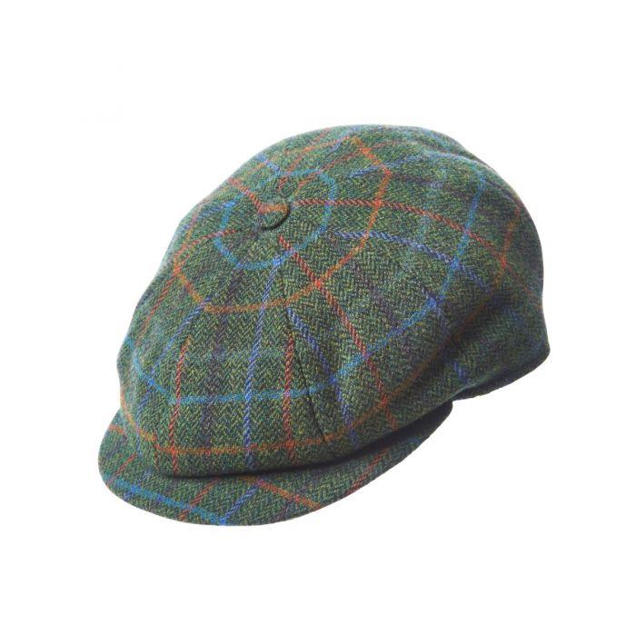 Green Tweed Cap