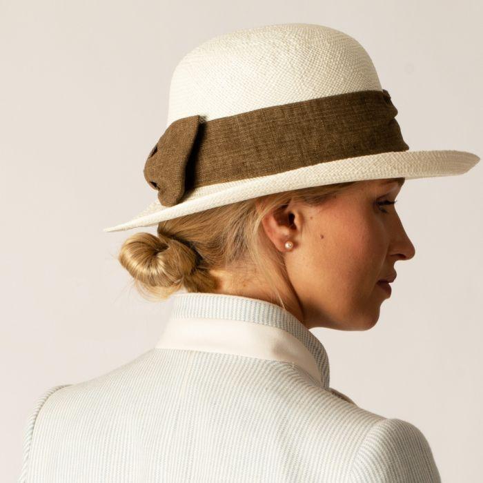 Stone Bow Detail Italian Hat