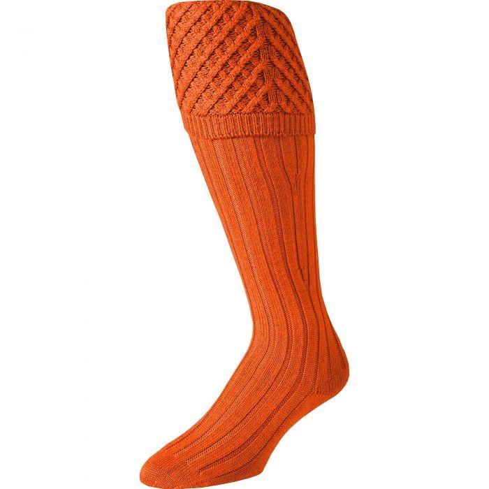 Orange Merino Shooting Stocking