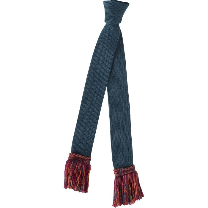 Green Merino Wool Garter Tie