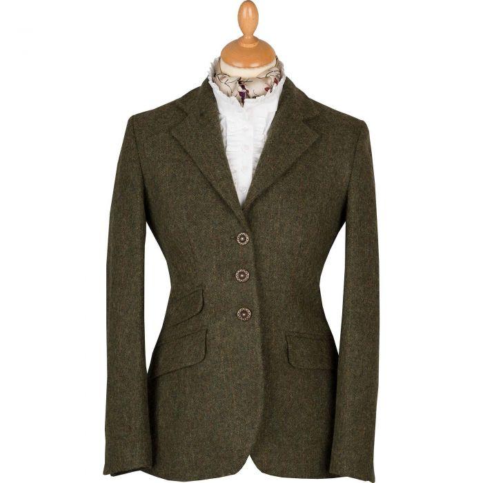 Dark Green T.ba Tweed Hacking Jacket