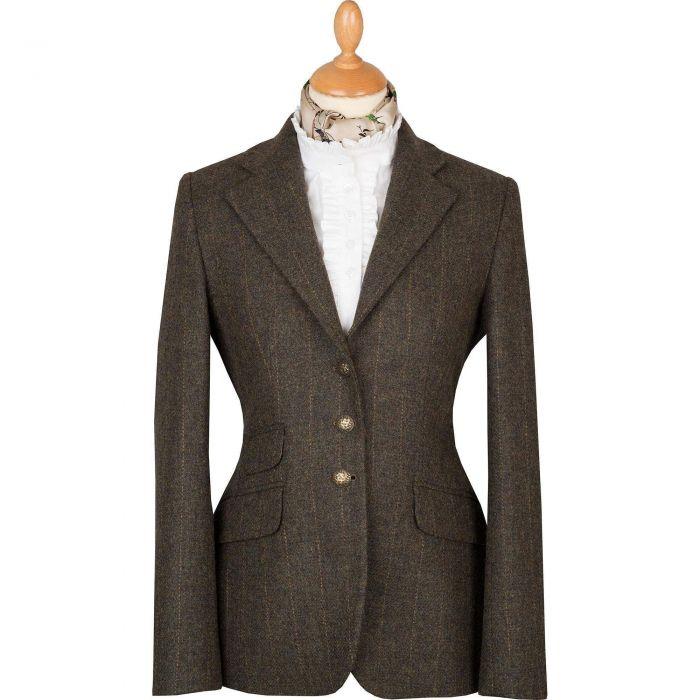 Sage Green T.ba Tweed Hacking Jacket