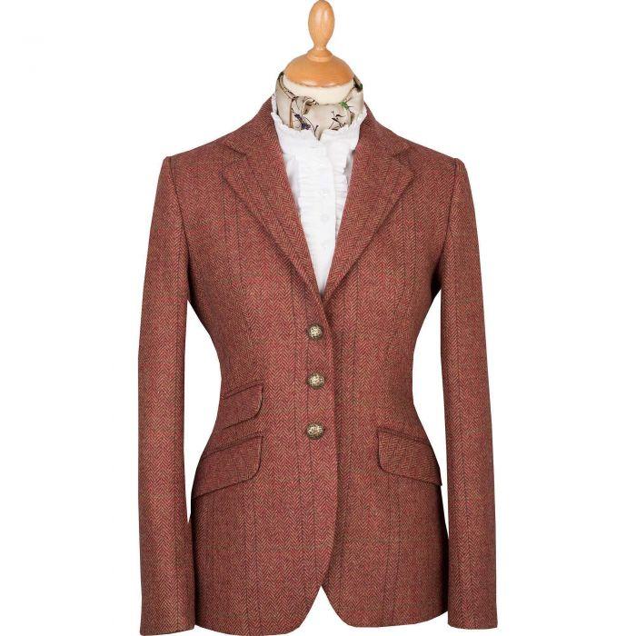 Pink T.ba Tweed Hacking Jacket