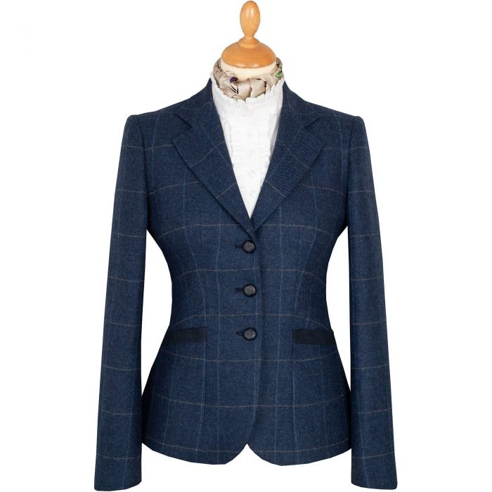 Eton Navy Chelsea Tweed Jacket