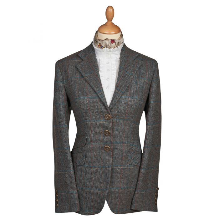 Blue T.ba Tweed Single Vent Jacket