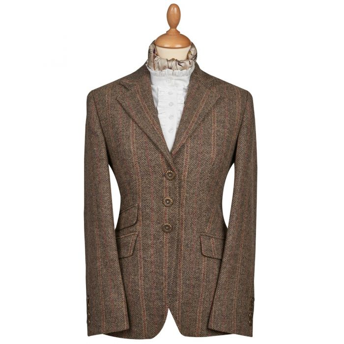 Brown and Red T.ba Tweed Single Vent Jacket