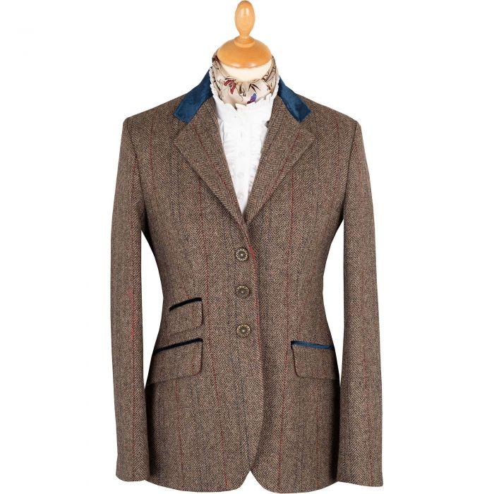 Velvet Trim T.ba Tweed Single Vent Jacket