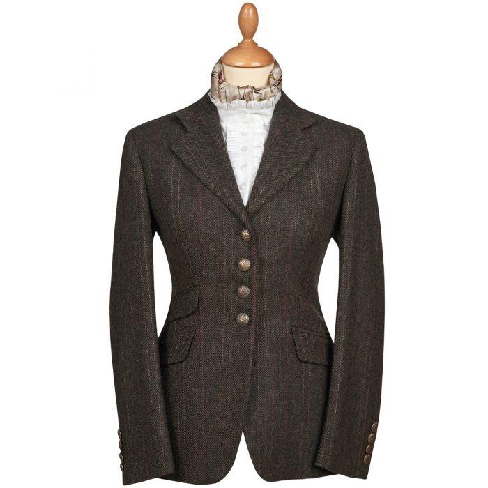 Brown T.ba Tweed Double Vent Jacket