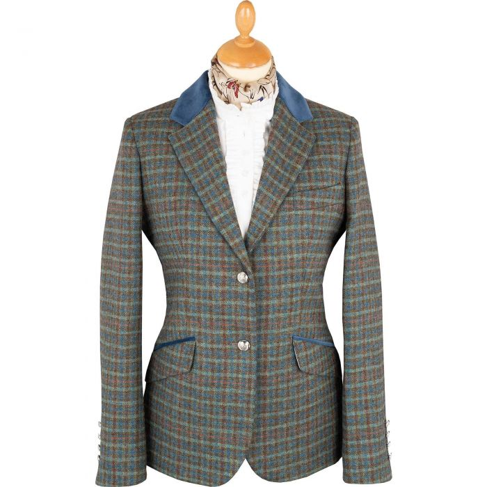 Blue Whitby Tweed Hacking Jacket