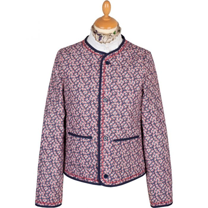 Cropped Quilted Cotton Jacket