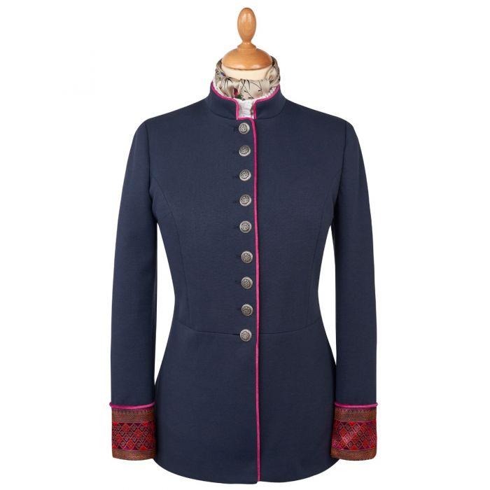 Navy Jaquard Military Jacket