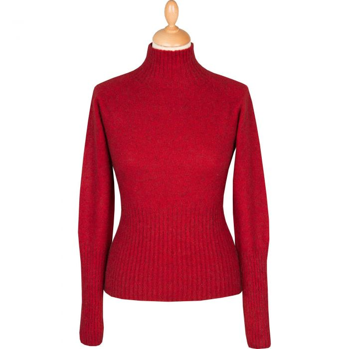 Red Possum Turtleneck Sweater