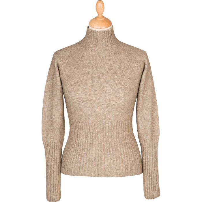 Taupe Possum Turtleneck Sweater