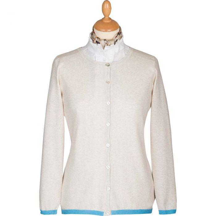 Cream Cotton Trim Cardigan